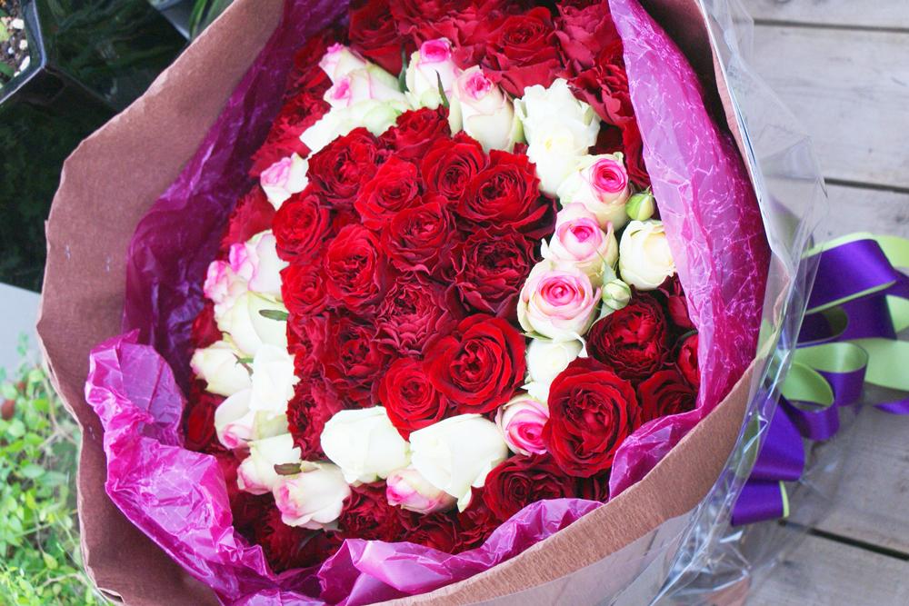 お誕生日に贈るバラの花束 ワンポントアドバイス!