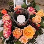 オレンジ系クリスマスアレンジメント