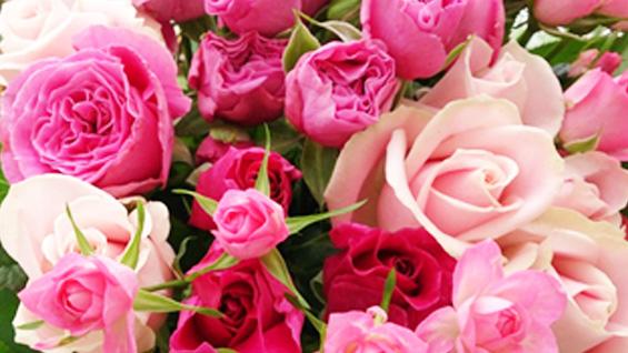 ピンク系バラの花束2
