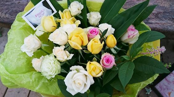 白系癒しの花束