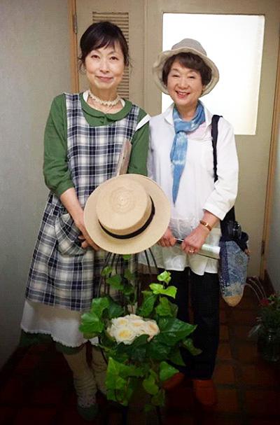 三田オープンガーデナー・高嶋清子さんと。憧れの素敵な三田のガーデン、いつか参ります!!