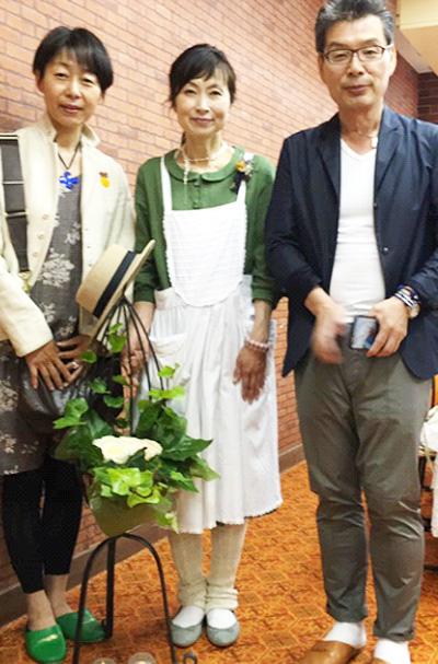 埼玉より「薬膳すうぷ」を教えていただいたHerbal MOMOの園藤祐子先生と伊藤和男さん