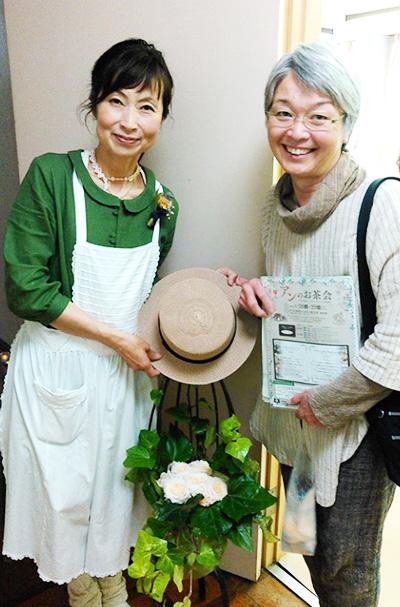 えひめ千年の森・鶴見恵子さんと。この日は、ピクニックコースとグリーンゲイブルスコース、2コース連続でのご参加、ありがとうございました♪