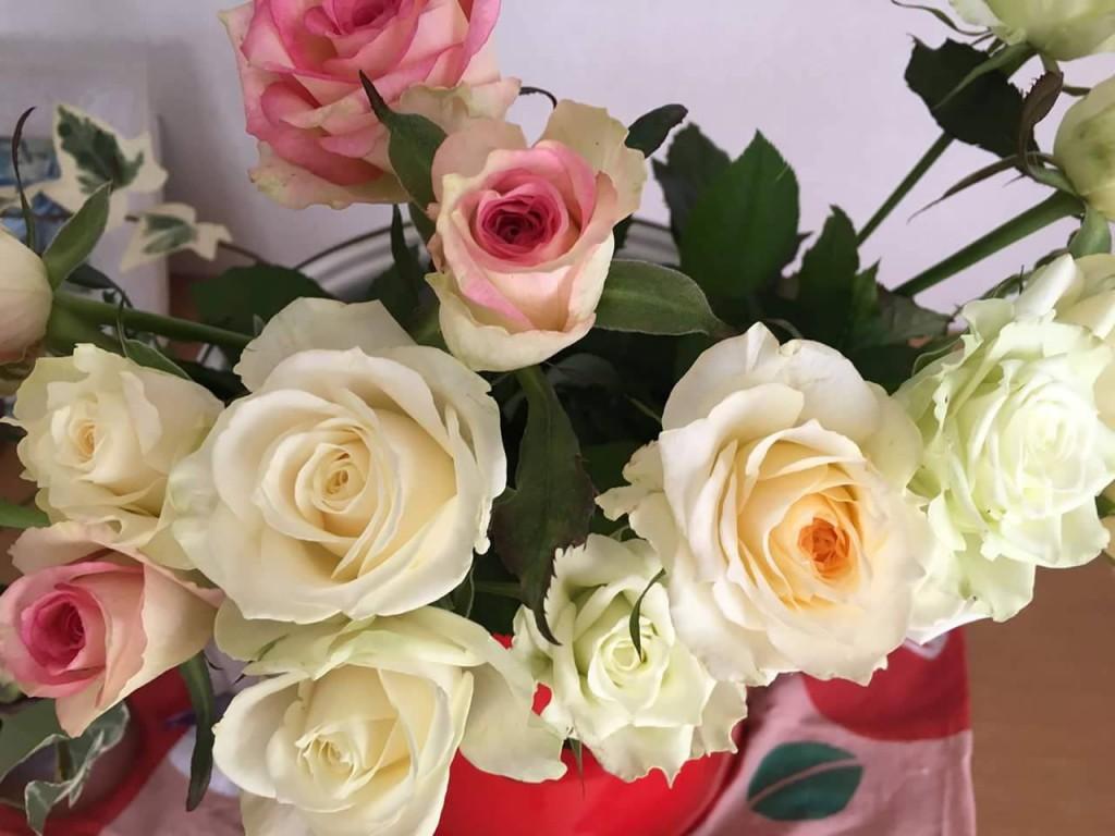 バラから確かな美しさが広がっています…お客様の感想より