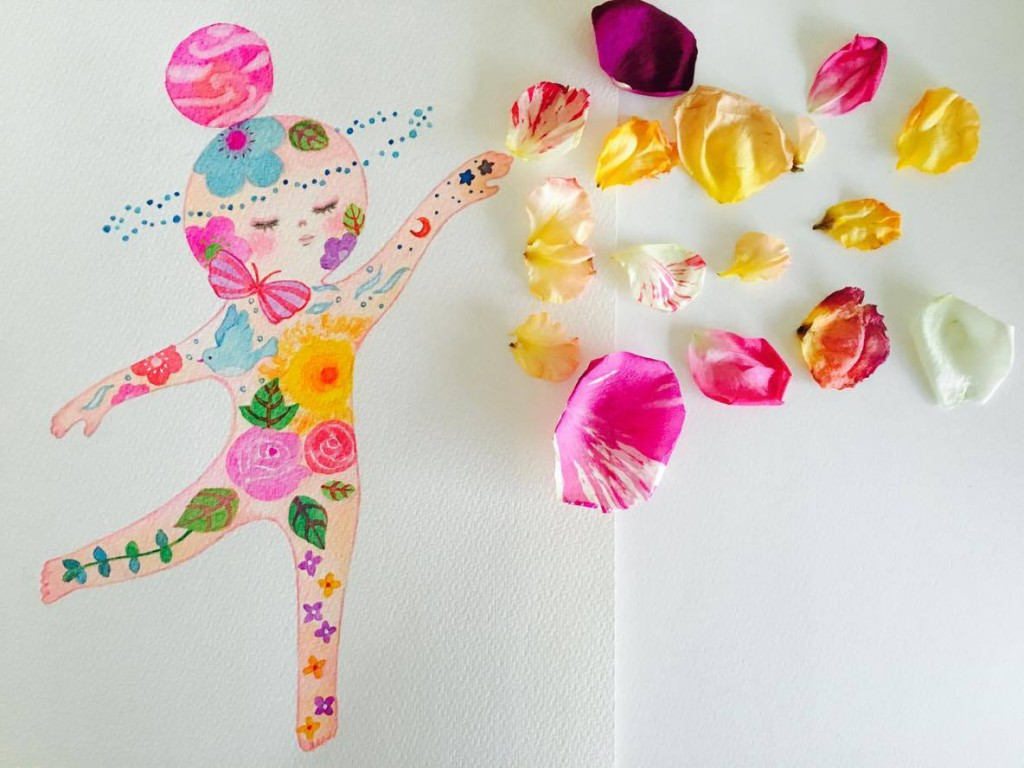 SEIKO Illustrasionさんの花びらアート