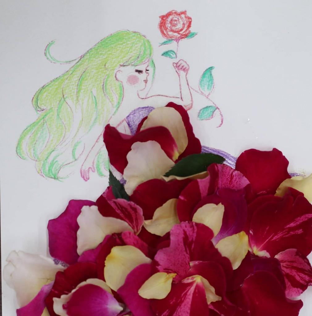 花びらアート in 双花美進学教室