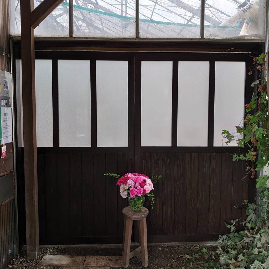 ハウスの扉が新しくなりました